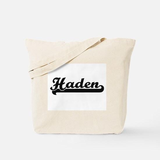 Haden Classic Retro Name Design Tote Bag
