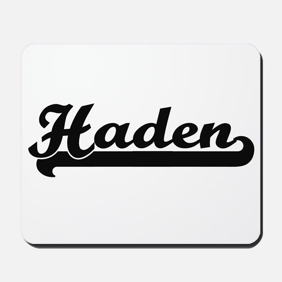 Haden Classic Retro Name Design Mousepad