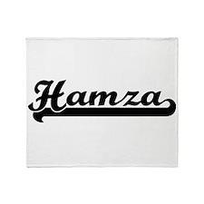 Hamza Classic Retro Name Design Throw Blanket
