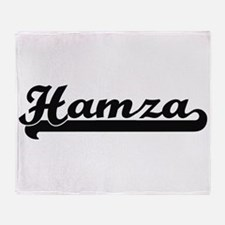 Hamza Classic Retro Name Design Throw Blanket