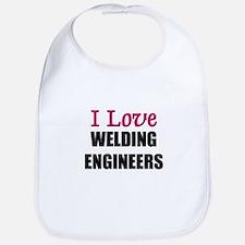 I Love WELDING ENGINEERS Bib