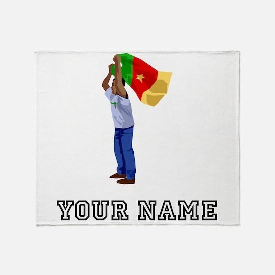 Cameroon Soccer Fan (Custom) Throw Blanket
