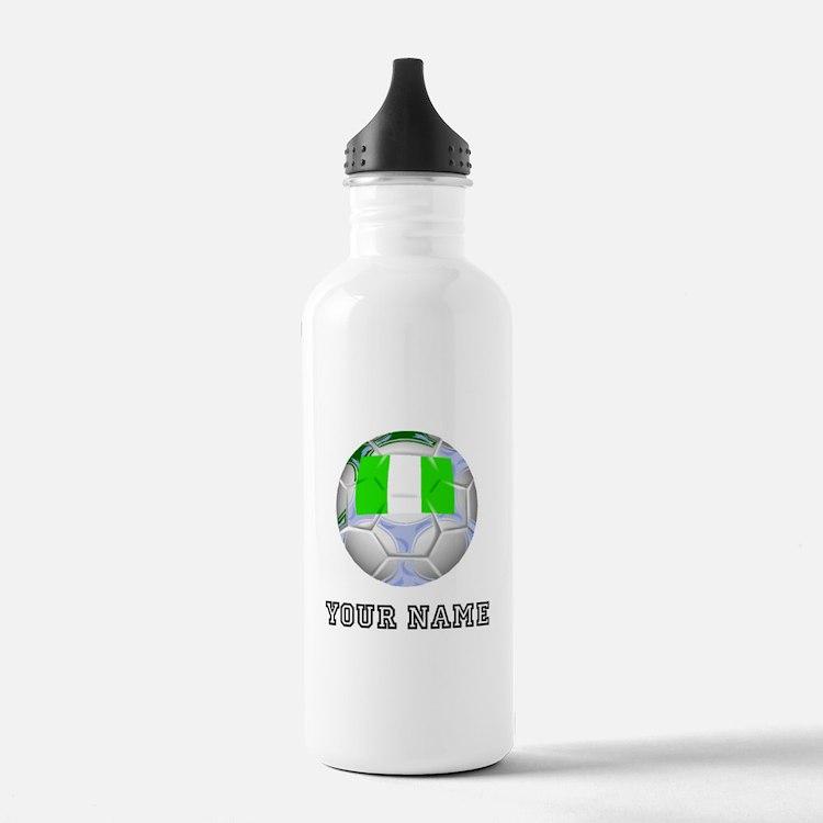 Nigeria Soccer Ball (Custom) Water Bottle