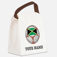 Jamaica Soccer Ball (Custom) Canvas Lunch Bag