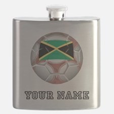 Jamaica Soccer Ball (Custom) Flask