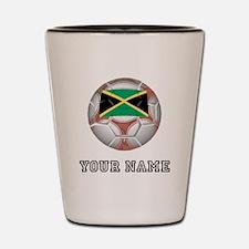 Jamaica Soccer Ball (Custom) Shot Glass