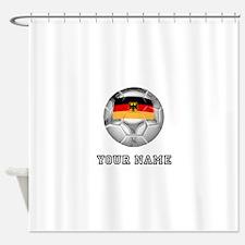 Germany Soccer Ball (Custom) Shower Curtain