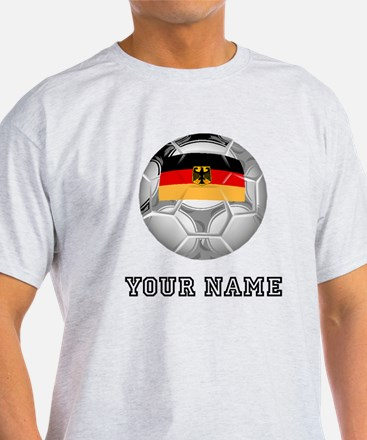 Germany Soccer Ball (Custom) T-Shirt