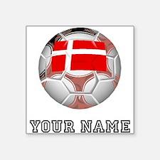 Denmark Soccer Ball (Custom) Sticker