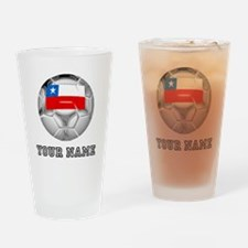 Chile Soccer Ball (Custom) Drinking Glass