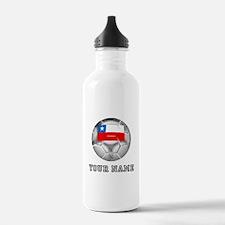 Chile Soccer Ball (Custom) Water Bottle