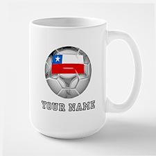 Chile Soccer Ball (Custom) Mugs