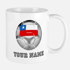 Chile Soccer Ball (Custom) Mugs