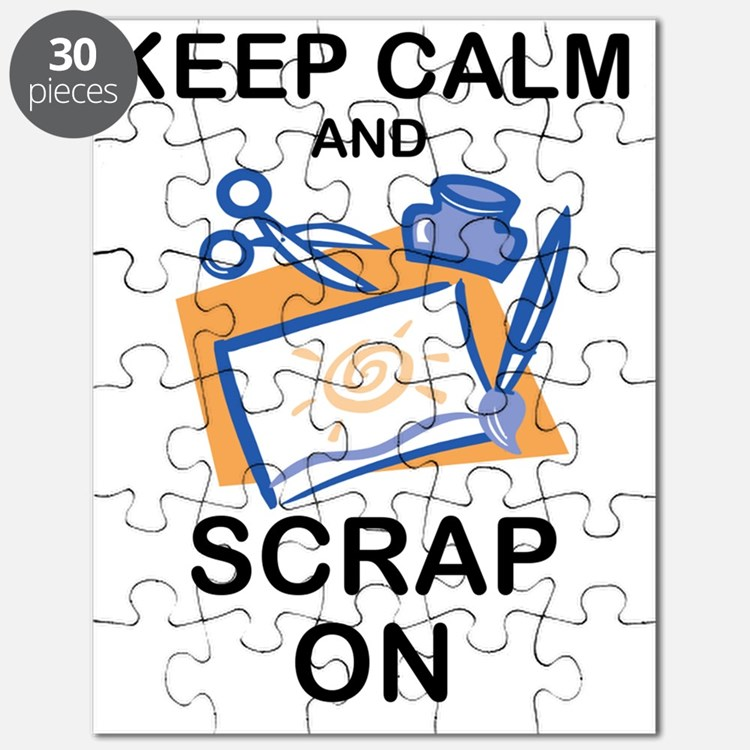 Cute Scrapbooking keep calm Puzzle