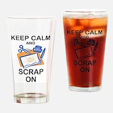 Cute Scrapbooking keep calm Drinking Glass