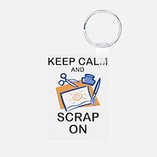 Cute Scrapbooking keep calm Keychains