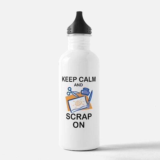 Cute Scrapbooking keep calm Water Bottle