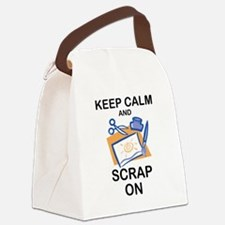 Cute Scrapbooking keep calm Canvas Lunch Bag