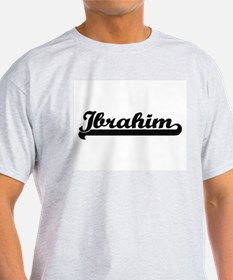 Ibrahim Classic Retro Name Design T-Shirt
