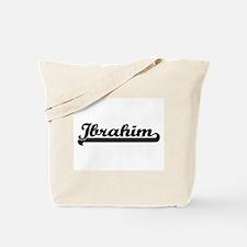 Ibrahim Classic Retro Name Design Tote Bag