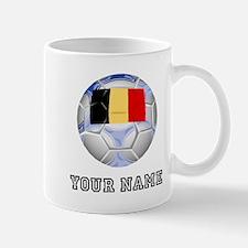 Belgium Soccer Ball (Custom) Mugs