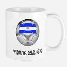 Argentina Soccer Ball (Custom) Mugs