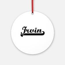 Irvin Classic Retro Name Design Ornament (Round)