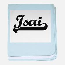 Isai Classic Retro Name Design baby blanket