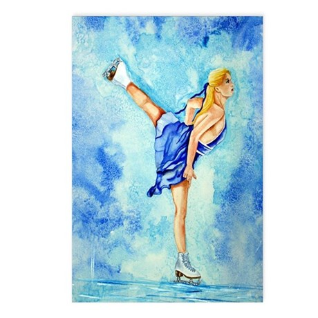 Ice Skater Ice Dreamz Postcards (Package of 8)