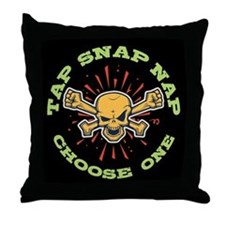 Tap Snap Nap Throw Pillow