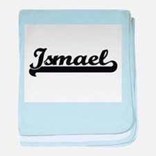 Ismael Classic Retro Name Design baby blanket
