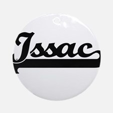 Issac Classic Retro Name Design Ornament (Round)