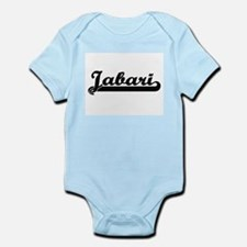 Jabari Classic Retro Name Design Body Suit