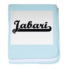 Jabari Classic Retro Name Design baby blanket