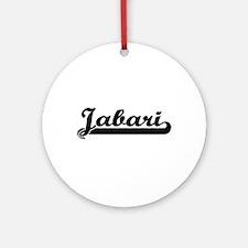 Jabari Classic Retro Name Design Ornament (Round)