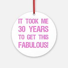 Women's 30th Birthday Round Ornament