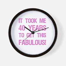 Women's 40th Birthday Wall Clock