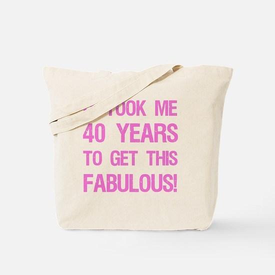 Women's 40th Birthday Tote Bag