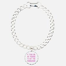 Women's 40th Birthday Bracelet
