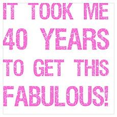 Women's 40th Birthday Poster