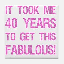 Women's 40th Birthday Tile Coaster