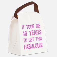 Women's 40th Birthday Canvas Lunch Bag