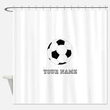 Soccer Ball (Custom) Shower Curtain