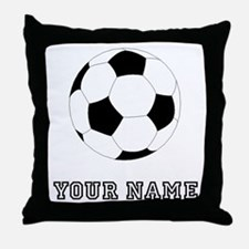 Soccer Ball (Custom) Throw Pillow