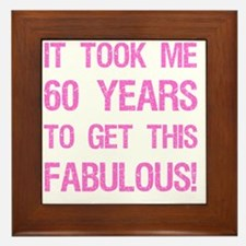Women's 60th Birthday Framed Tile