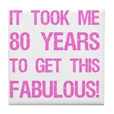 Women's 80th Birthday Tile Coaster