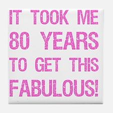 Women's 80th Birthday Tile Coaster