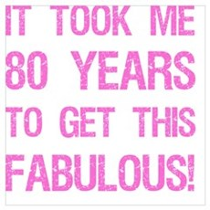 Women's 80th Birthday Poster