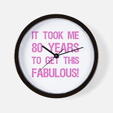 Women's 80th Birthday Wall Clock