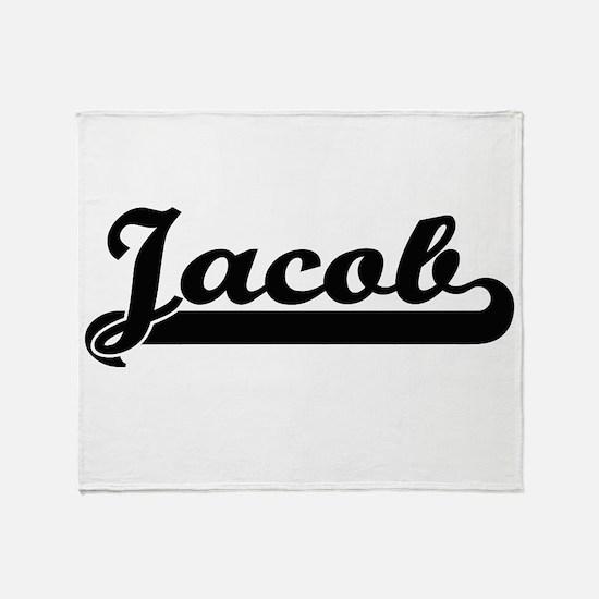 Jacob Classic Retro Name Design Throw Blanket